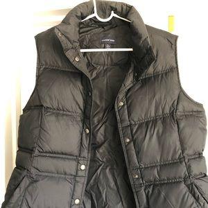 Black, Land's End, puffy vest